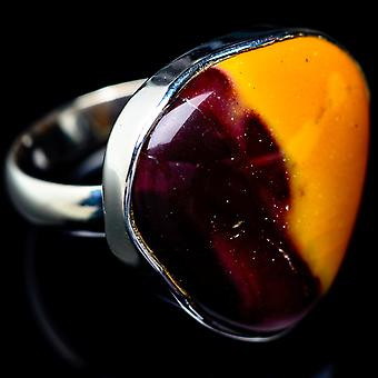 Mookaite Ring Size 7.5 (925 Sterling Silver)  - Handmade Boho Vintage Jewelry RING5442