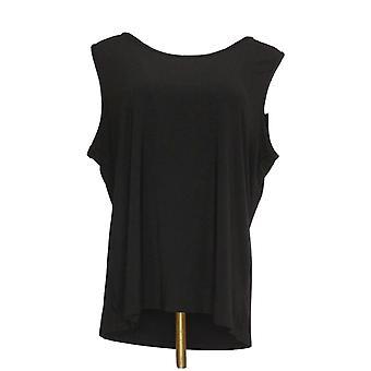 Serengeti Women's Sleeveless Scoop Neck Stretch Top Black