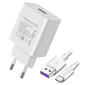 Caricabatterie USB SuperCharge 40W con cavo USB-C Huawei Bianco
