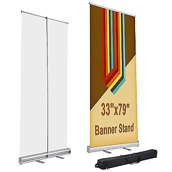 """Yescom 33"""" x 79"""" Aluminum Retractable Roll Up Banner Stand Trade Show Display Promotion Sign Holder with Carry Bag"""