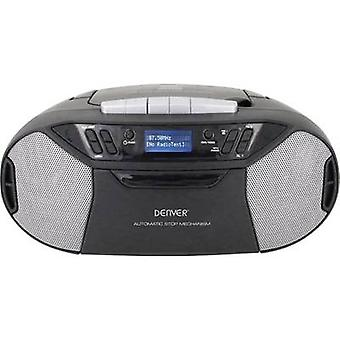 Denver TDC-250 Radio CD-spiller DAB +, FM AUX, CD, Tape, USB Svart