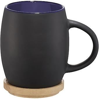 Avenue Hearth Ceramic Mug With Wood Lid/Coaster