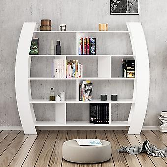 Libreria Teeth Color Bianco in Truciolare Melaminico 180x33x150 cm