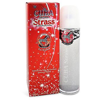 Cuba Strass Zebra Eau De Parfum Spray By Fragluxe 3.4 oz Eau De Parfum Spray