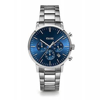 Cluse CW0101502011 Aravis Blue Dial Chronograph Wristwatch