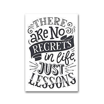 Ei katumuksia, Just Lessons Juliste -Kuva Shutterstock