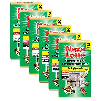 Sparset: 6 x NEXA LOTTE® cabinet trap for food moths, 2 pieces