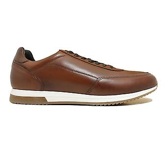 Loake Bannister Cedar Burnished Calf Leather Mens Lace Up Baskets