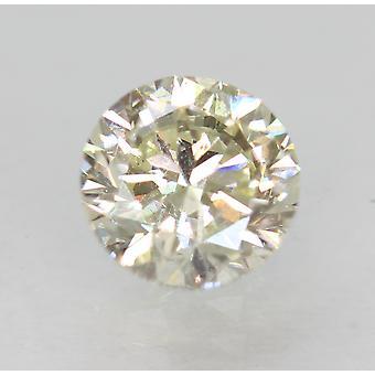 Certified 0.75 Carat J VS1 Round Brilliant Enhanced Natural Loose Diamond 5.57mm