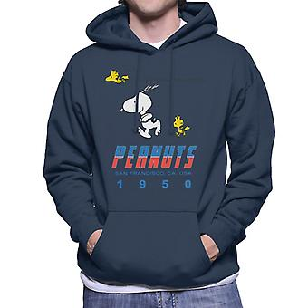 Peanuts Snoopy Woodstock 1950s San Francisco Men's Hooded Sweatshirt
