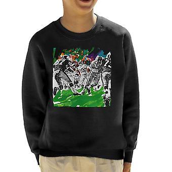The Saturday Evening Post American Football Sketch Paul Calle Kid's Sweatshirt