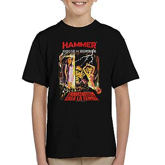 Hammer Frankenstein Crea La Femme Poster Kid's T-Shirt