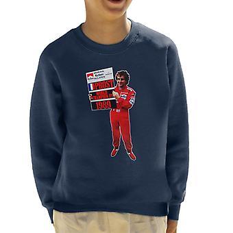 Motorsport Images Alain Prost Formula One World Championship 1989 Kid's Sweatshirt