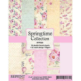 Reprint Springtime Collection 6x6 Inch Paper Pack