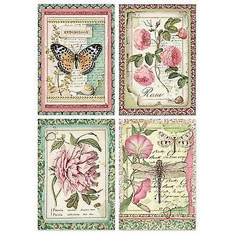 סטמפריה אורז נייר A4 כרטיסי פרח בוטני