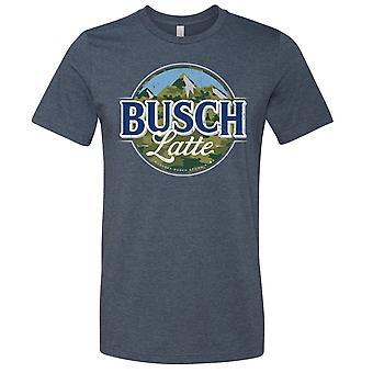 Busch Latte Camuflagem Logotipo Azul T-Shirt