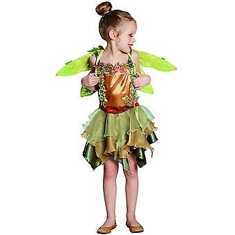 Elven costume children's elven girl waldelfe 2-piece with wings