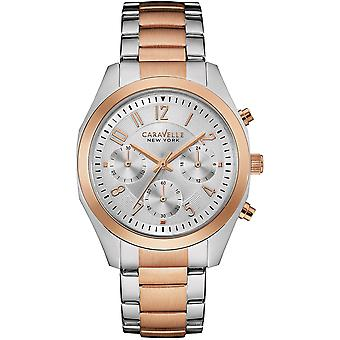 Caravelle Watch 45L149 - Plated Stainless Steel Ladies Quartz Chronograph