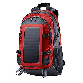 Backpack with Solar Charger - Red