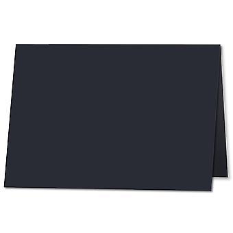 Mørkeblå. 105 mm x 148 mm. A7 (lang kant). 235gsm Foldet kort Tom.