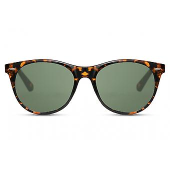 Sunglasses Unisex wayfarer fully framed kat. 3 brown/green