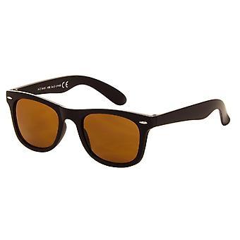 Okulary przeciwsłoneczne Unisex matowy brąz z brązową soczewką (045 P)