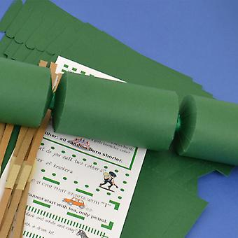Single Green Make & Fill Your Own DIY Recyclable Christmas Cracker Craft Kit