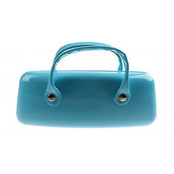 Brillenetui Damen   16 x 6 cm hellblau