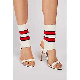 Striped Sock Insert Heels
