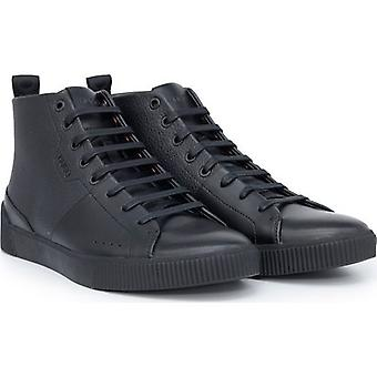 BOSS Zero Hito Cuir High Top Trainers
