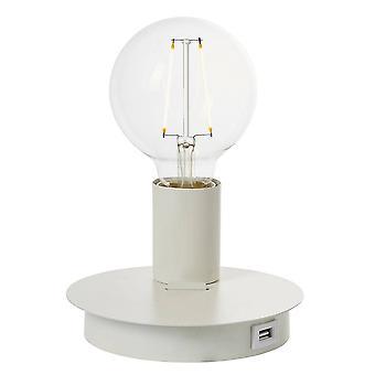 Endon Joshua - 1 Licht Tisch Leuchte Matt Weiß, E27