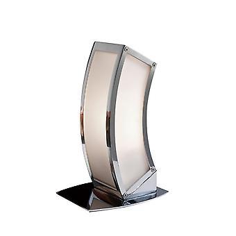 Mantra inspiré - Duna - Lampe de table E27 1 Lumière E27, Chrome poli, Acrylique Blanc