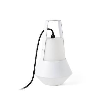 1 Lekka lampa stołowa na zewnątrz Biała IP54, E27