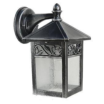 Elstead Winchcombe - 1 lys utendørs vegg lanterne lys svart, sølv IP44, E27