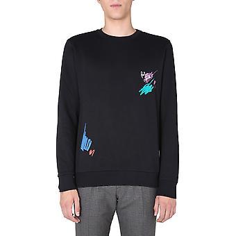 Paul Smith M1r302sep194579 Men's Black Cotton Sweatshirt