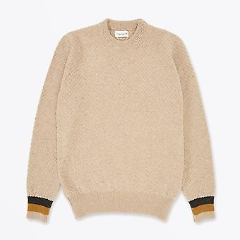 Oliver Spencer - Blenheim - Pull tricoté en laine - Beige