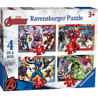 Ravensburger Avengers Assemble 4 in a Box Jigsaw Puzzles