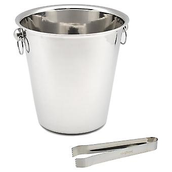 Rink Drink Champagne Ice Bucket with Tongs