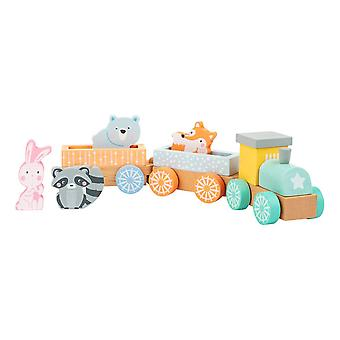 Legler Small Foot Train in Pastel Colours Wooden Kid's Toy Unisex (11470)