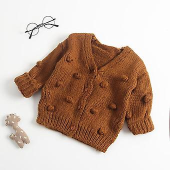 1-3y Baby Sweater- Child Autumn Winter Cotton Ball Knitting Sweater, Cardigan