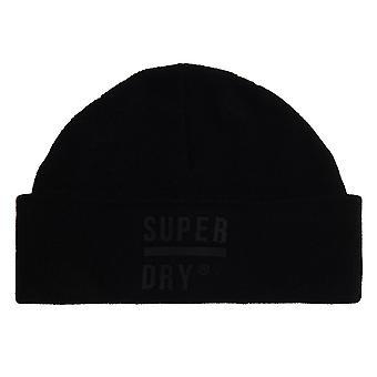 Superdry Surplus Silicone Beanie - Black