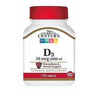 21st Century Vitamin D3, 2000 IU, 110 tabs
