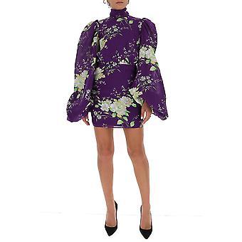 Attico 202wca02p031012 Women's Purple Silk Dress