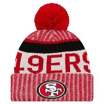 New Era NFL SIDELINE 2017 Bobble Mütze - San Francisco 49ers