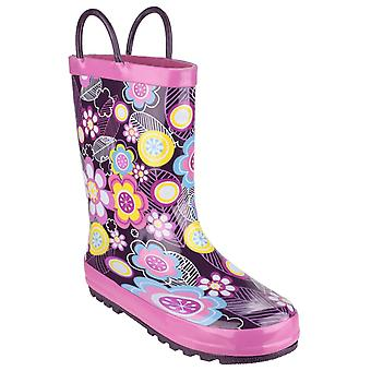 Cotswold kids puddle waterproof pull on boot multicolor 20962