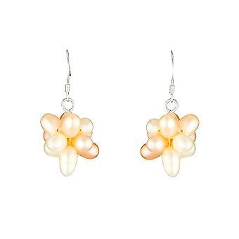 Zilveren oorbellen -apos;Bouquet Perlés;