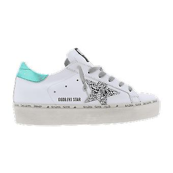 Golden Goose Hi Star Glitter Laminated Heel White GWF00118F00021410244 shoe