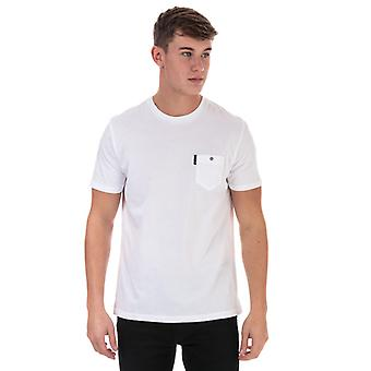Men's Ben Sherman Spade Tasche T-Shirt in weiß