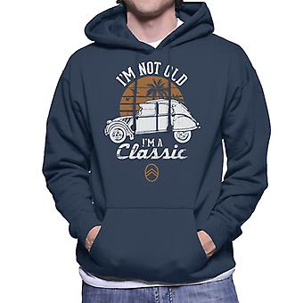 Citro�n 2CV White I'm Not Old Classic Sunset Men's Hooded Sweatshirt