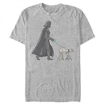 Star Wars Darth Vader apenas andando sua camiseta AT-AT
